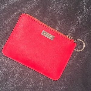 Kate Spade - red wallet clutch